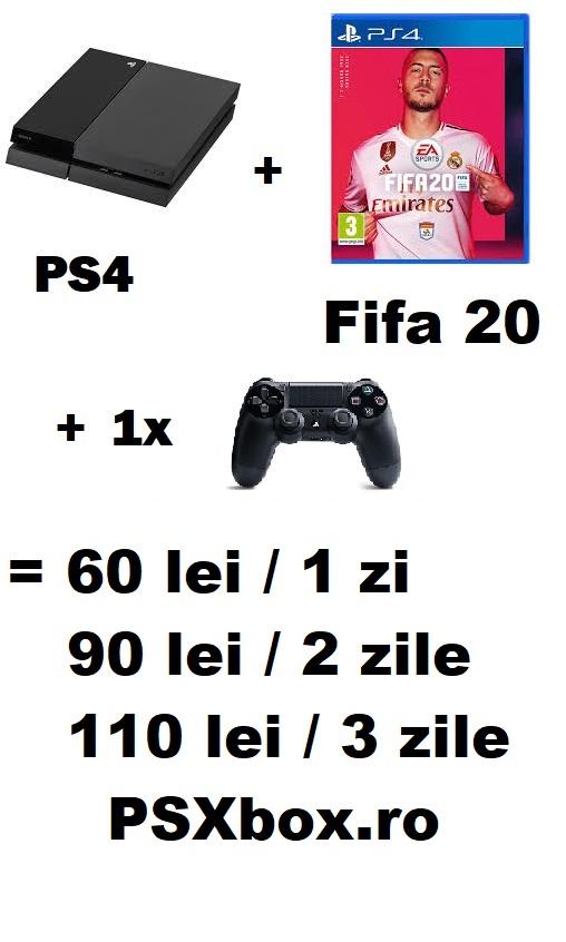 Pachet Inchiriere Fifa 20 PS4 psxbox, inchiriere console jocuri video PlayStation 4 & Xbox one Brad - Hunedoara
