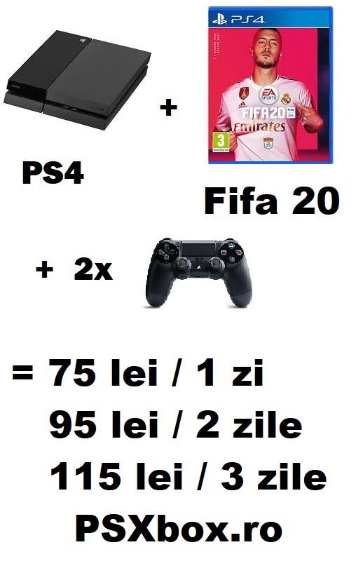 Pachet Inchiriere Fifa 20 PS4 psxbox, inchiriere console jocuri video PlayStation 4 & Xbox one