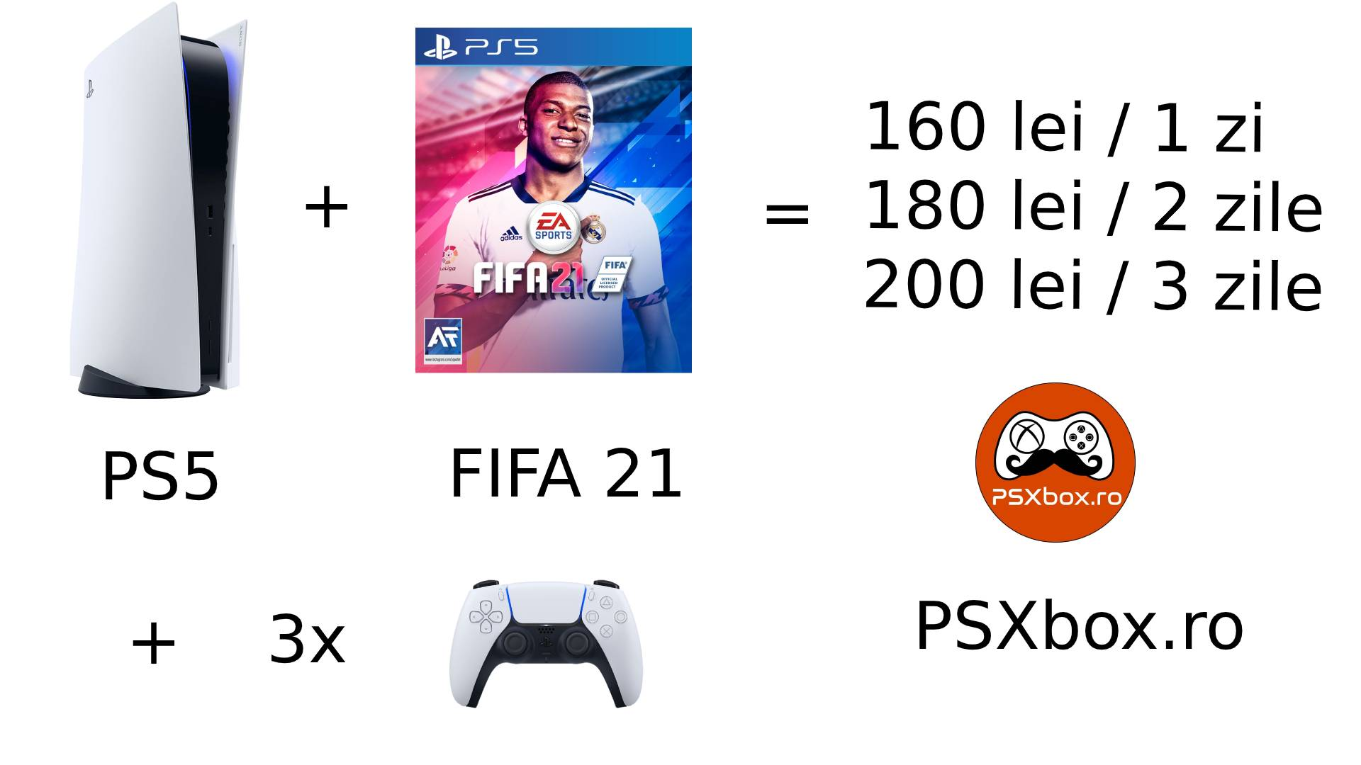 Pachet Inchiriere Fifa 21 PS5 psxbox, inchiriere console jocuri video PlayStation 5 & Xbox Series X
