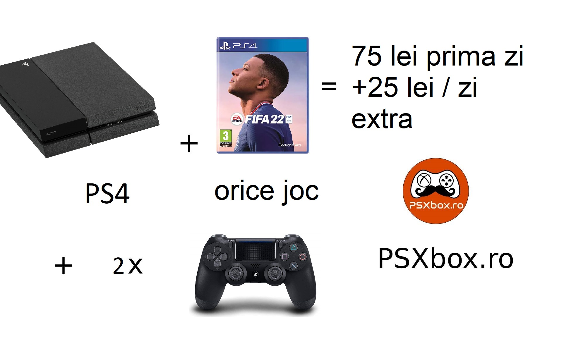 Pachet Inchiriere Fifa 21 PS4 PSXbox, inchiriere console jocuri video PlayStation 4 & Xbox one Pitesti - Arges
